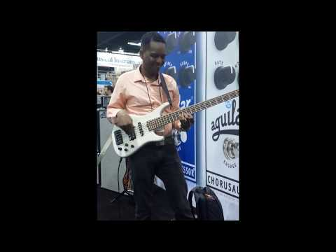 Tomas julio playing at namm show 2015