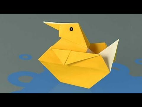 How To Make A Paper Duck Origami Youtube