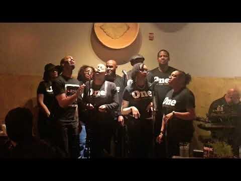 One Voice Music Group caroling in Atlanta