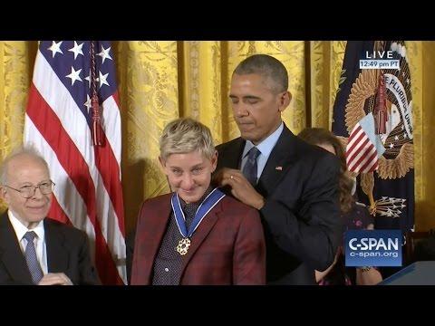 Ellen DeGeneres Medal of Freedom Award 11-22-16