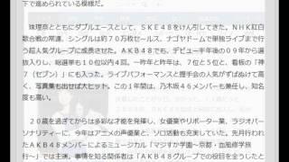 日刊スポーツ 6月10日(水)6時2分配信 SKE松井玲奈が卒業、10日にもラ...