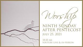 Ninth Sunday after Pentecost July 25, 2021