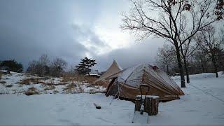 戸惑いの雪中ソロキャンプ【solo camping #35】 thumbnail