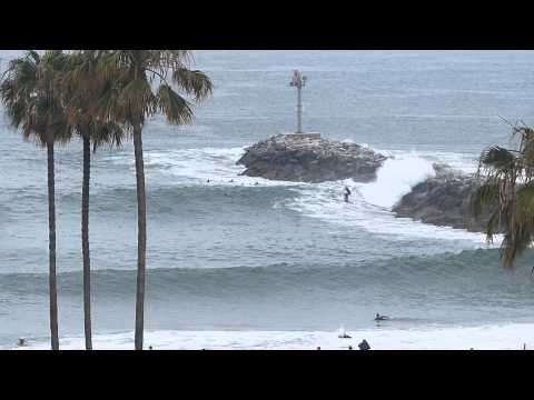 Newport Beach, CA, CDM Beach, 5-7ft Surf, Red Flag, 6/7/13