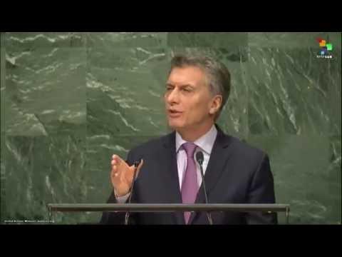 UN Speeches: Argentinian President Mauricio Macri