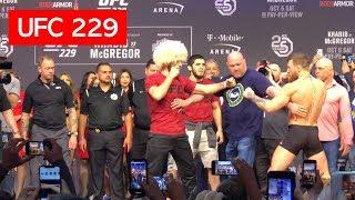 STAREDOWN!! CONOR MCGREGOR AND KHABIB NURMAGOMEDOV UFC 229