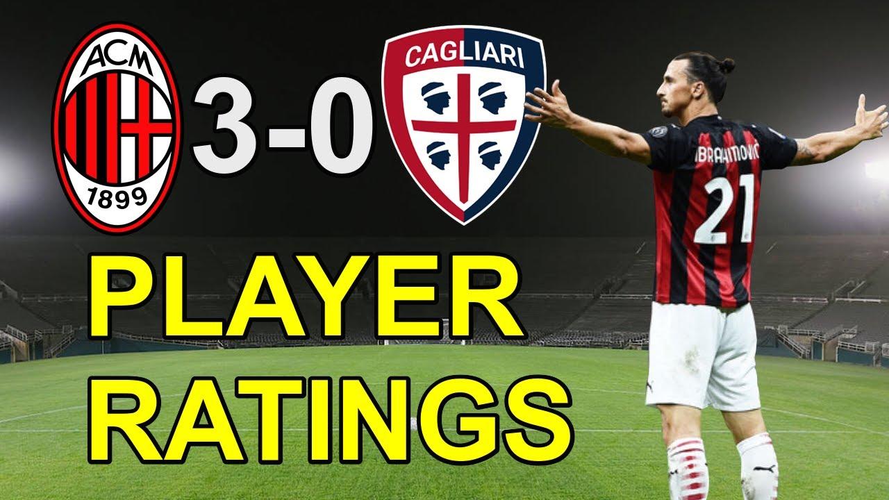 Ac Milan Vs Cagliari 3 0 Player Ratings Youtube
