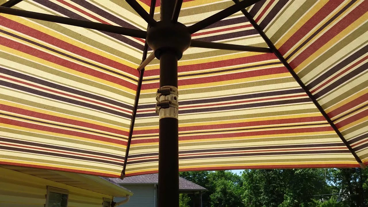 Fix A Leaning Patio Umbrella With Hose Clamps YouTube