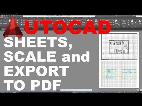 AutoCAD Print Setup ( sheets, scale, export to PDF ) Tutorial