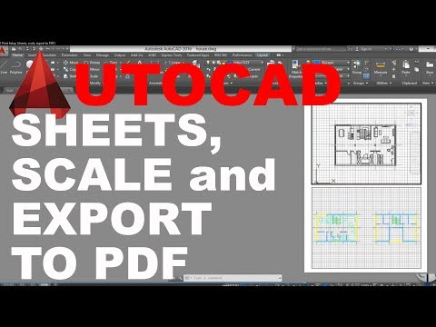 AutoCAD Print Setup ( sheets, scale, export to PDF ) Tutorial
