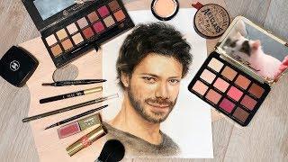 화장품으로 그림 그리기     Drawing With Make Up (Álvaro Morte)