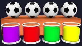 Colores con Pelotas de Futbol y Personajes Divertidos - Aprender Jugando