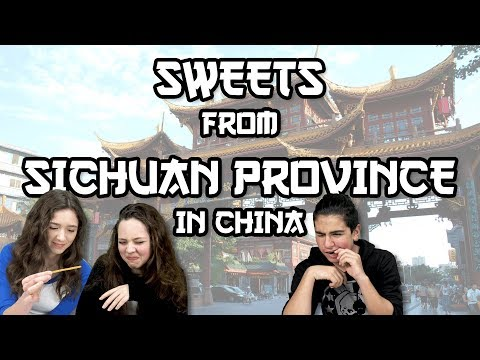 German Teens try Sweets from Sichuan Province in China