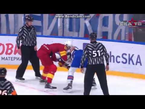 KHL Fight Marko Anttila Vs. Yevgeni Ketov Ska - Jokerit 17.8.2017