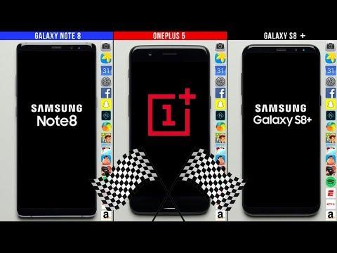Galaxy Note 8 vs. OnePlus 5 vs. Galaxy S8+ Speed Test