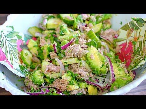 Tasty Avocado Tuna Salad Recipe - Easy Salads