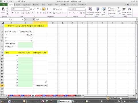 Excel Finance Class 41: Interest Only Loan Schedule.