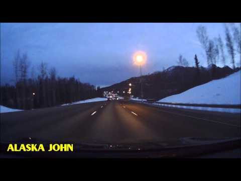 ANCHORAGE TO WASILLA ALASKA DRIVE - November 5th 2015 - Dashcam