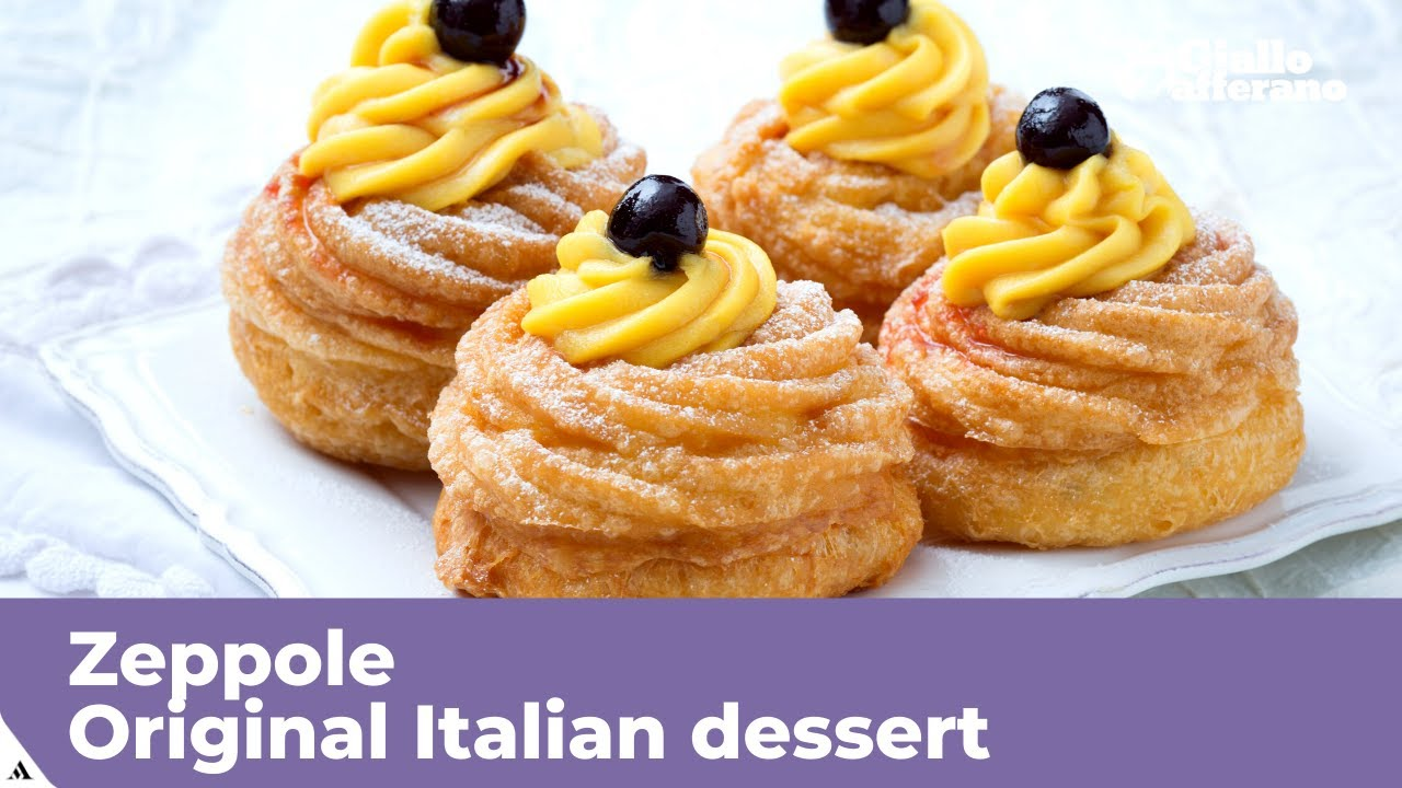 Zeppole Original Italian Recipe Youtube