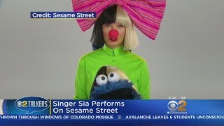 Singer Sia Performs On Sesame Street