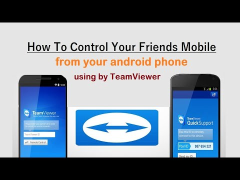 How To Control Your Friends Mobile, From Your Android Phone | Using By TeamViewer-part 2