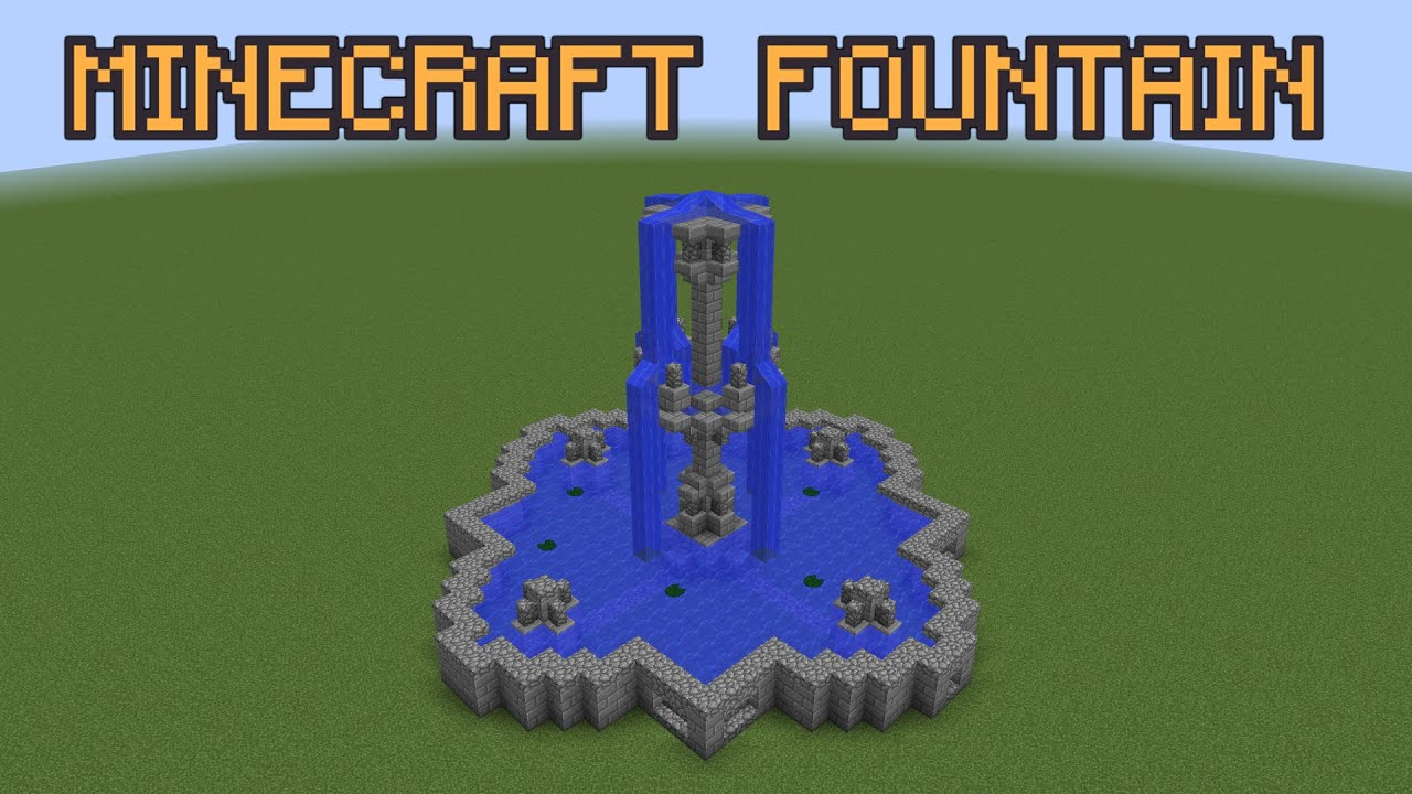 Free Blueprints Minecraft Fountain Tutorial Youtube