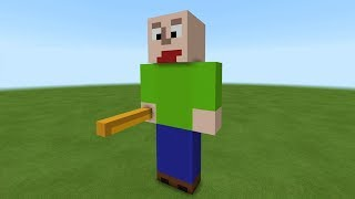 "Minecraft: How To Make A Baldi Statue ""Baldi"
