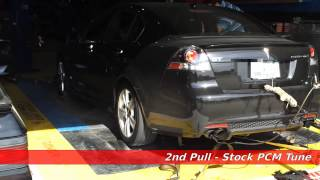 Pontiac G8 Dyno with custom PCM tune