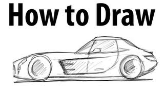 How to draw a Mercedes Benz SLS AMG - Sketch it quick!