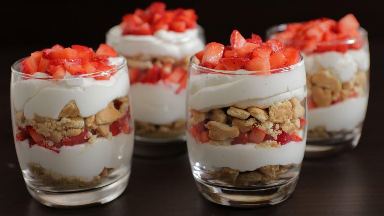 Easy Strawberry And Cream Dessert Youtube
