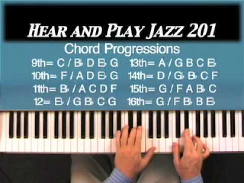 Piano piano chords melody : Hear and Play Jazz 201: Piano Chord Progressions Repeating Sharp 9 ...