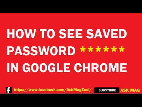 How to see saved passwords in Google chrome