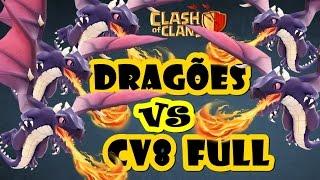 Clash of Clans #20 | Ataque de Dragão em CV8 FULL | Como será que terminou? | FAIL ou EPIC? [PT-BR]
