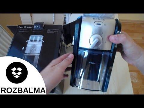 Elektrický mlynček na kávu s mlecími kameňmi Krups GVX 242 (ROZBAĽOVANIE /  UNBOXING)