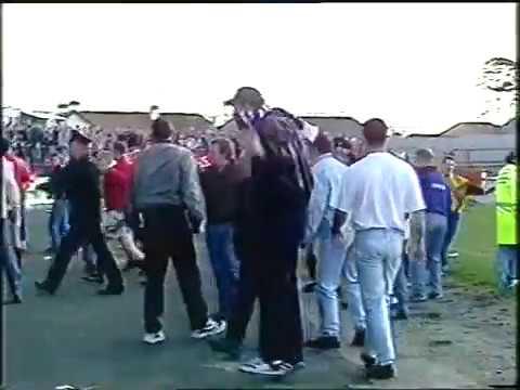 Portadown v cliftonville fans riot 1995
