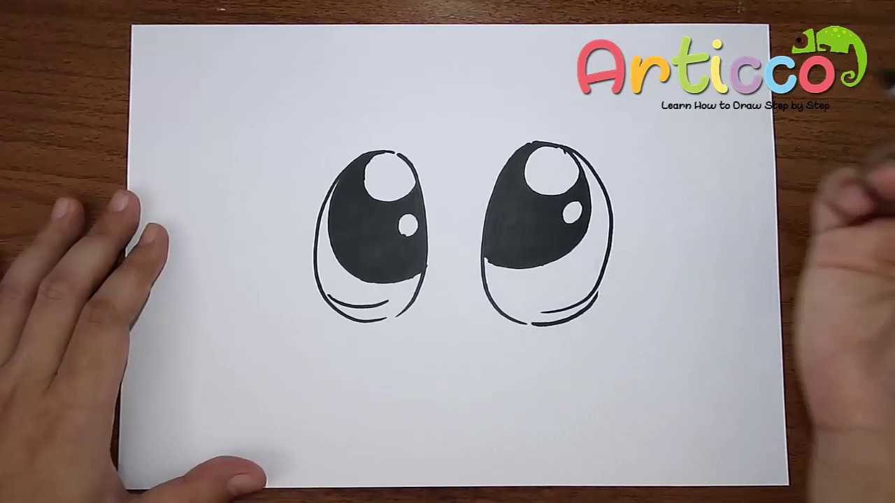 How To Draw Cute Eyes Youtube