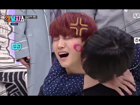 ENG SUB GOT7 MEMBERS KISS JB ON NECK,CHEEKS,FOREHEAD AND NOSE WITH LIPSTICK ON
