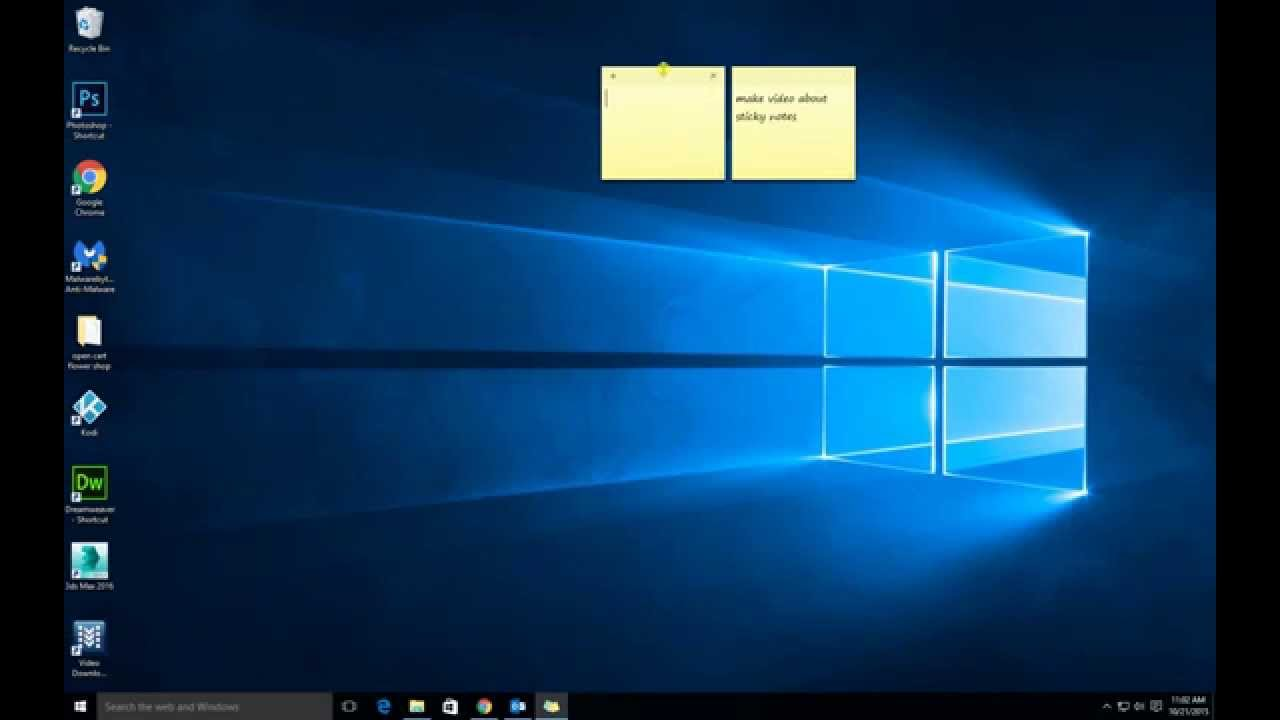 Bloc Note De Bureau Windows 10 Sticky Notes