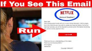 Netflix 2019 - Warning Netflix Scam
