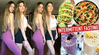 We Tried INTERMITTENT FASTING For a Week + What We Ate