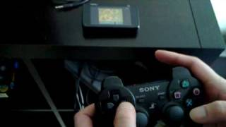 Nokia N900 running emulated SNES controlled with PS3 Sixaxis controller