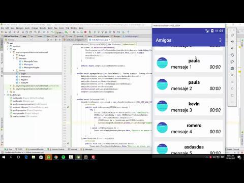 41. Lista De Amigos (Llenar CardView) | Sistema De Chat Avanzado En Tiempo Real - Android Studio