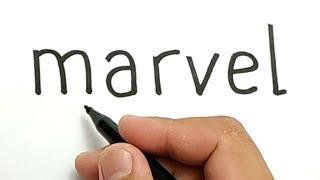 VERY EASY! how to turn words MARVEL into CAPTAIN MARVEL , AVENGERS ENDGAME /drawing for kids