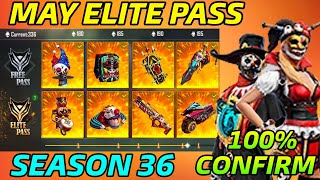 May Elite Pass Free Fire 2021 | Season 36 Elite pass | May Elite Pass | Free Fire Next Elite Pass