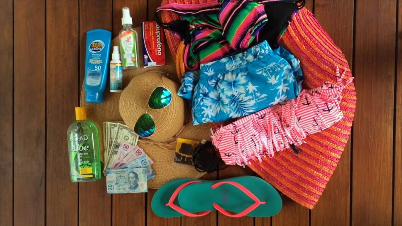 packing list for a vacation in playa del carmen youtube