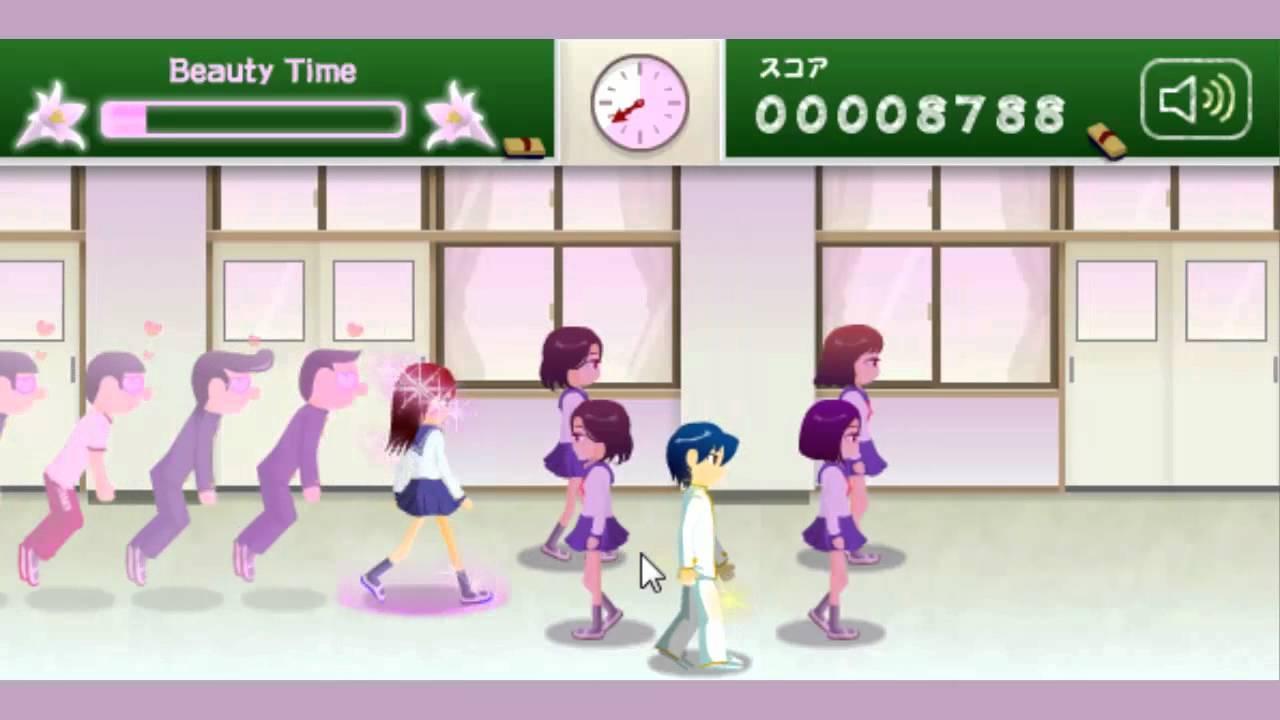 【舞秋風小遊戲時間】 電眼美女 - 校園篇 School Flirting Game - YouTube