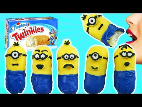 Learn How To Make Minions | DIY Minion Treat Using Twinkies | Kids Cooking and Crafts