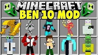 Minecraft BEN 10 MOD | DIAMONDHEAD, HEATBLAST, ALIEN X, WILDMUTT & MORE!!