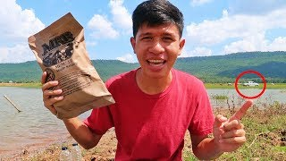 เอาชีวิตรอด งบ300บาท กินอาหาร MRE บนเกาะกลางทะเล โดนคลื่นซัดเกือบตาย!!