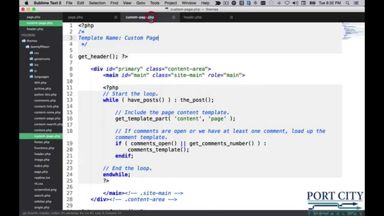 Introduction to Wordpress - Custom page template - YouTube